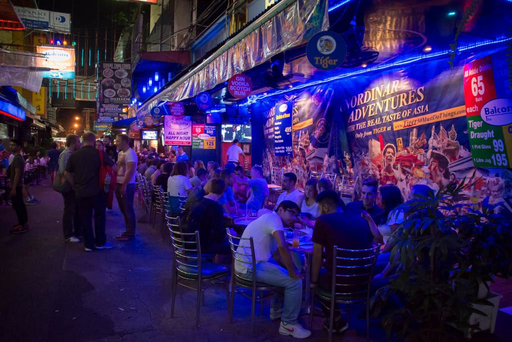 Bangkok's Gay Street... Ladyboys abound!