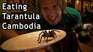 Eating Tarantula in Phnom penh Cambodia