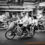 Family of 5 on a motorcycle - cambodia, Asia