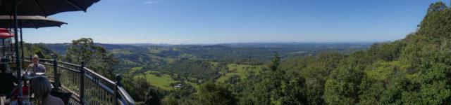 Romantic getaways sunshine coast hinterland - Edge cafe view montville