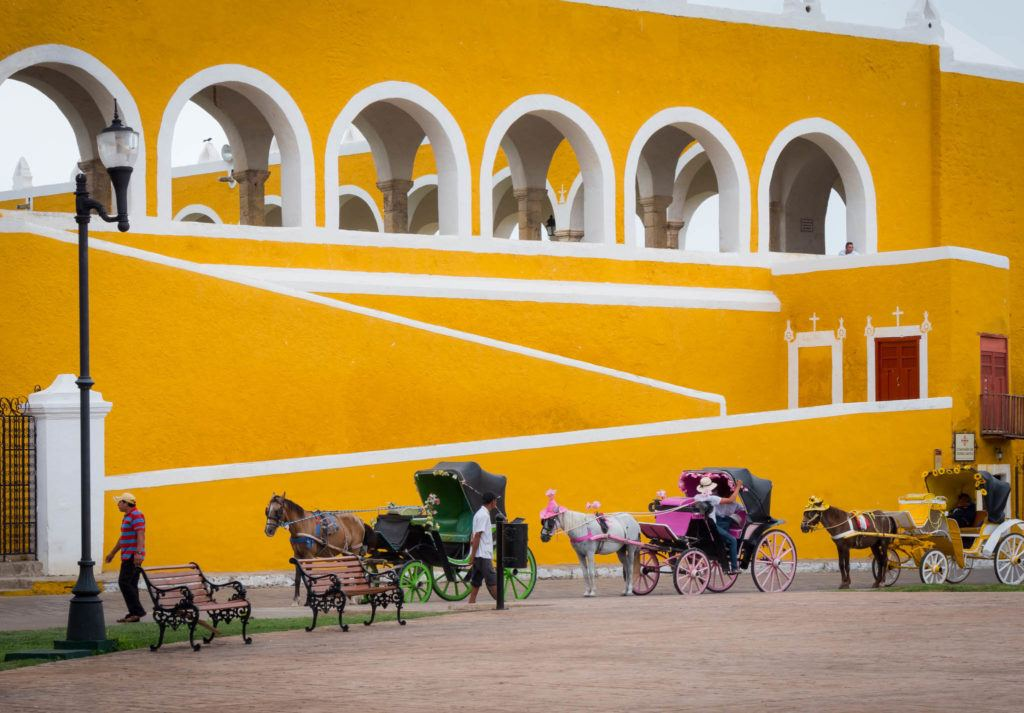 Izamal Mexico - The Yellow City - Horse Carriage rides around the city