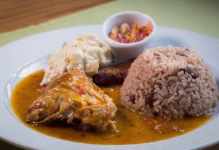 Rice & Beans With Chicken Stew