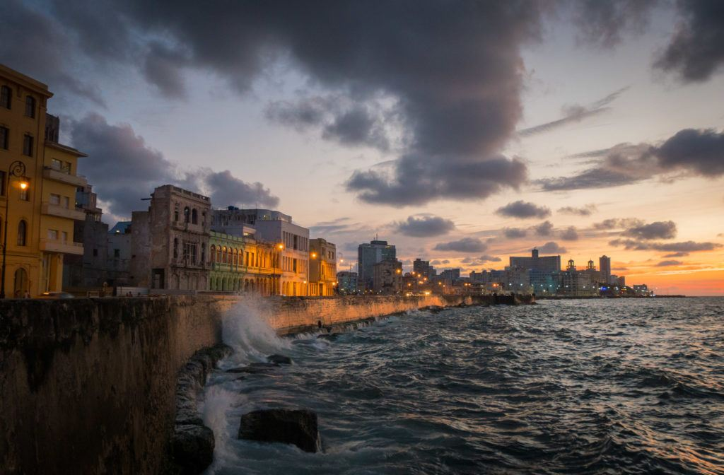 What to do in Havana Cuba: Visit The Malecon at Sunset