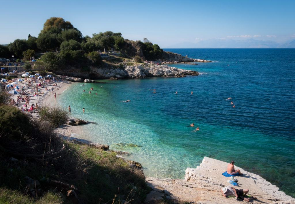 What To Do In Corfu / things to do in corfu / Corfu Greece Map: Visit Bataria Beach on The North Coast