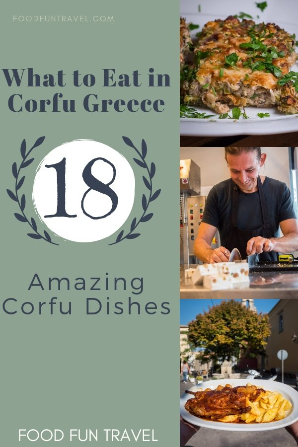 Traditional Corfu Food: What To Eat In Corfu, 18 Amazing Corfu Dishes. What is Traditional Corfu Food? As well as typical Greek food, There are some specific Corfu dishes that are uniquely Corfiot. Learn what to eat in Corfu.