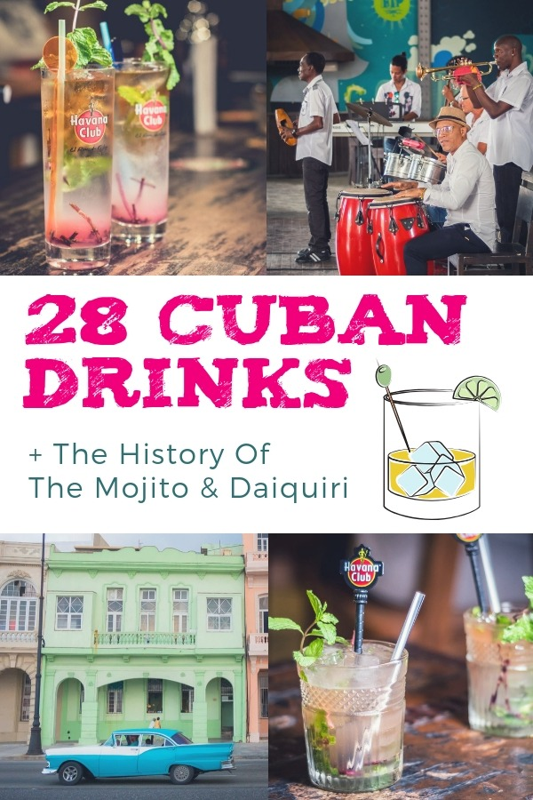 Cuban Drinks: We list all of the most popular, inc. Cuban Cocktails, Cuban Beer and Cuban Drinks non alcoholic. Also, the history of the Mojito & Daiquiri